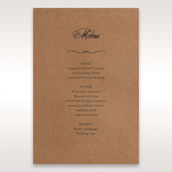 Brown Country Glamour - Menu Cards - Wedding Stationery - 3