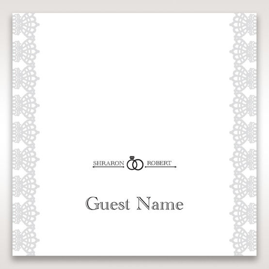 White Traditional Romance - Place Cards - Wedding Stationery - 37
