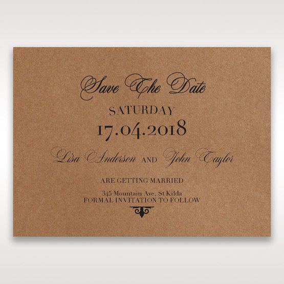 Brown Country Glamour - Save the Date - Wedding Stationery - 69
