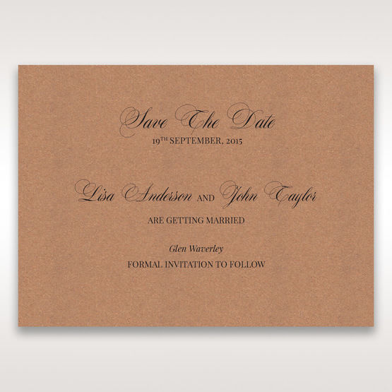 Brown Rustic Laser Cut Pocket with Classic Bow - Save the Date - Wedding Stationery - 18