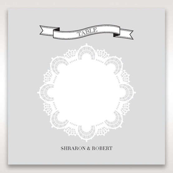 White Traditional Romance - Table Number Cards - Wedding Stationery - 3