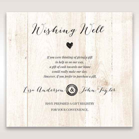 Brown Rustic Woodlands - Wishing Well / Gift Registry - Wedding Stationery - 71