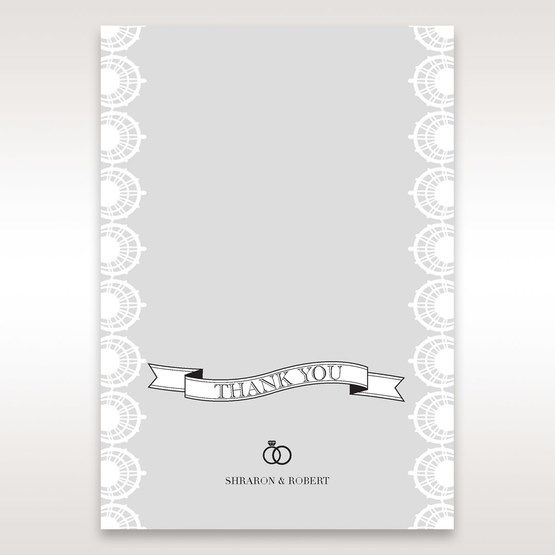 White Traditional Romance - Thank You Cards - Wedding Stationery - 2