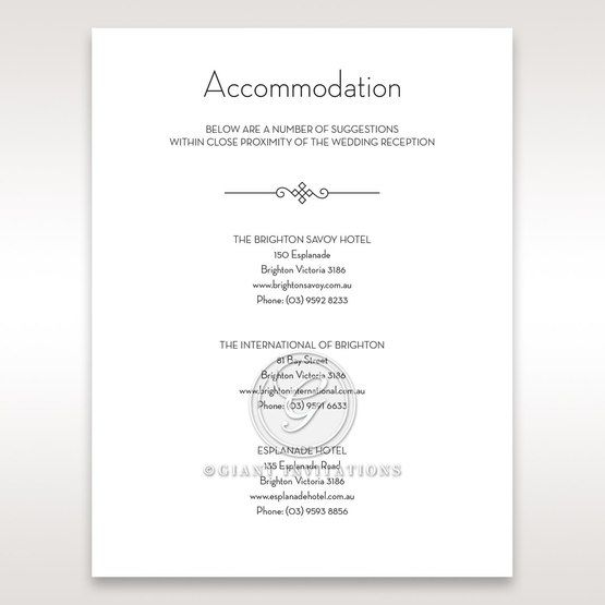 Embossed Date accommodation card DA14131