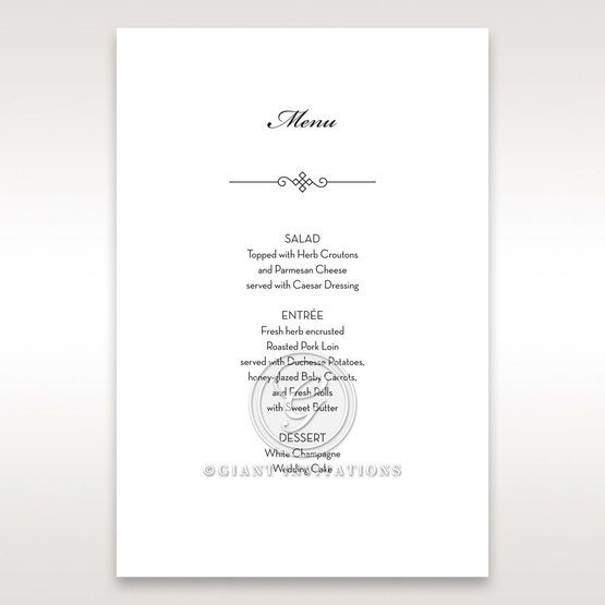 Embossed Date menu card DM14131