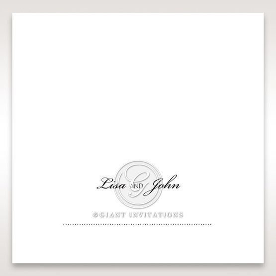 Embossed Date place card DP14131