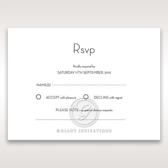 Embossed Date rsvp card DV14131