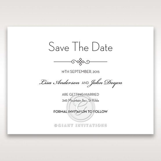 Embossed Date save the date DS14131