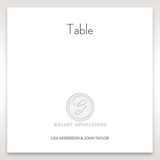 Embossed Date table number card DT14131