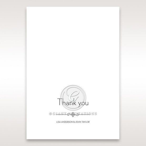Embossed Date thank you card DY14131