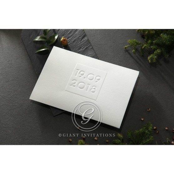 Embossed Date wedding invitations HB14131_1