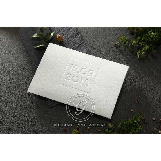 Embossed Date wedding invitations HB14131_1