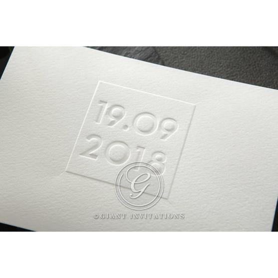 Embossed Date wedding invitations HB14131_2