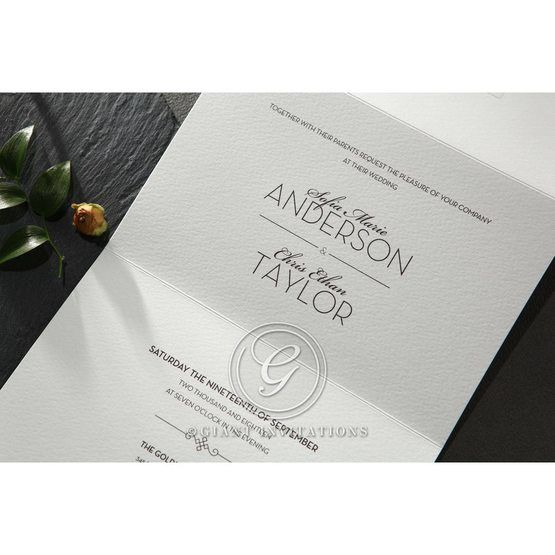 Embossed Date wedding invitations HB14131_5