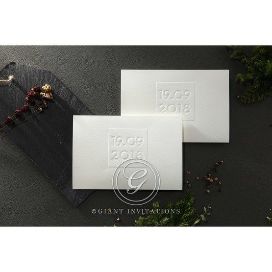 Embossed Date wedding invitations HB14131_7
