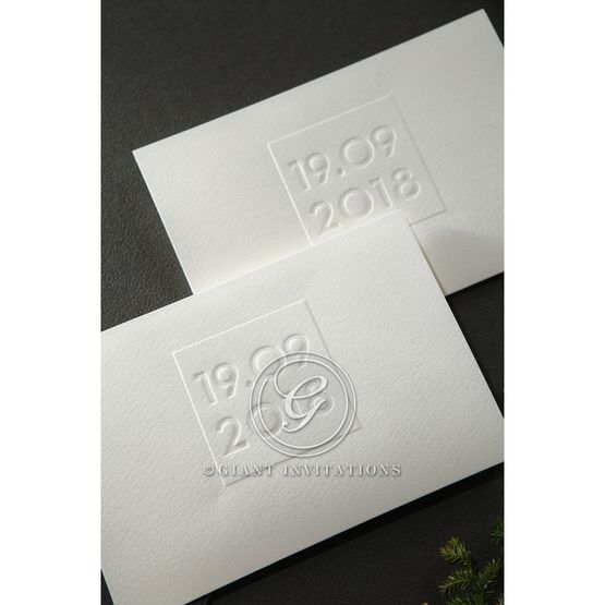 Embossed Date wedding invitations HB14131_8