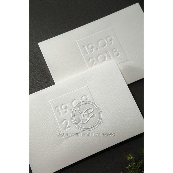 Embossed Date wedding invitations HB14131_8
