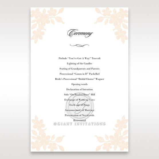 Embossed Floral Frame order of service DG15106