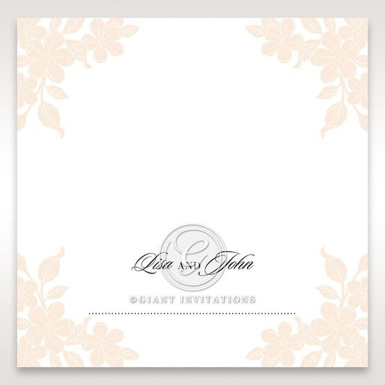 Embossed Floral Frame place card DP15106