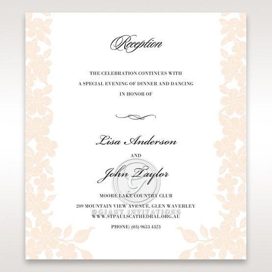Embossed Floral Frame reception card DC15106