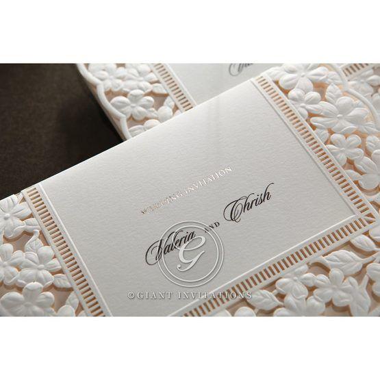 Embossed Floral Frame wedding invitations HB15106_12