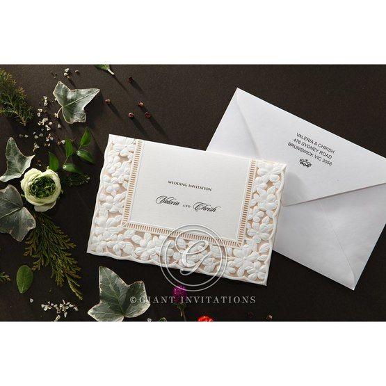 Embossed Floral Frame wedding invitations HB15106_5