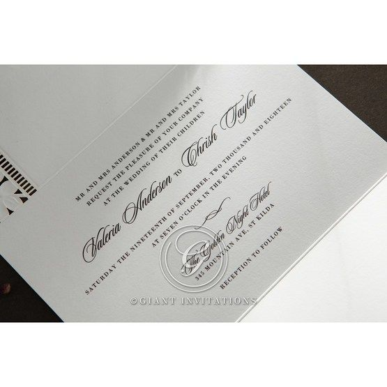Embossed Floral Frame wedding invitations HB15106_9