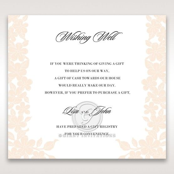 Embossed Floral Frame wishing well card DW15106