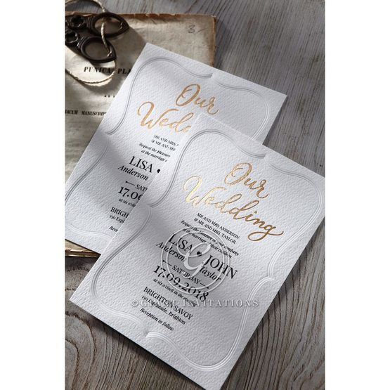 Embossed Frame wedding invitations OWI116025_4