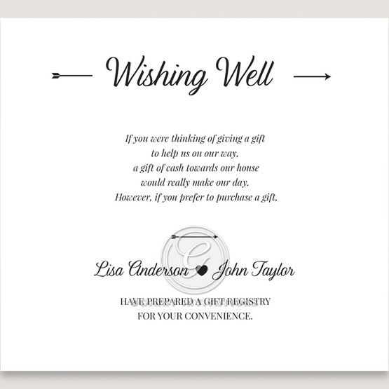 Embossed Frame wishing well card DW116025