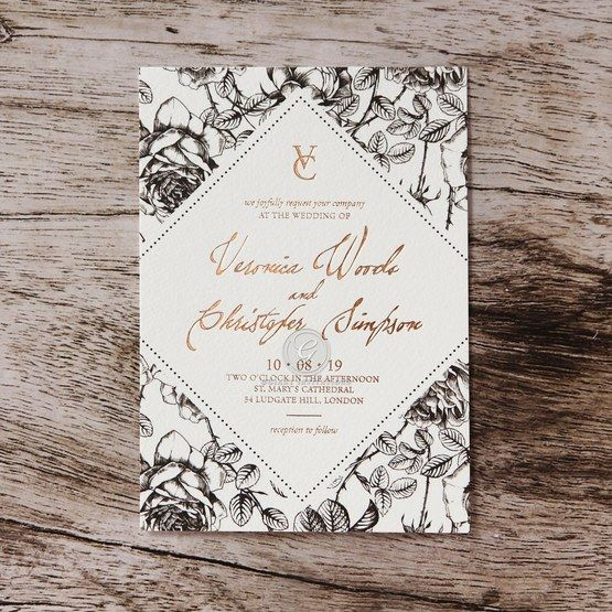 Giant S Old Aged Garden Party Wedding Invitation