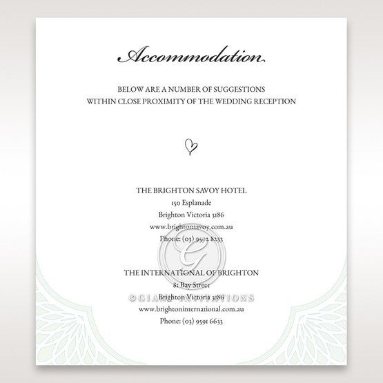 Framed Elegance accommodation card DA15104