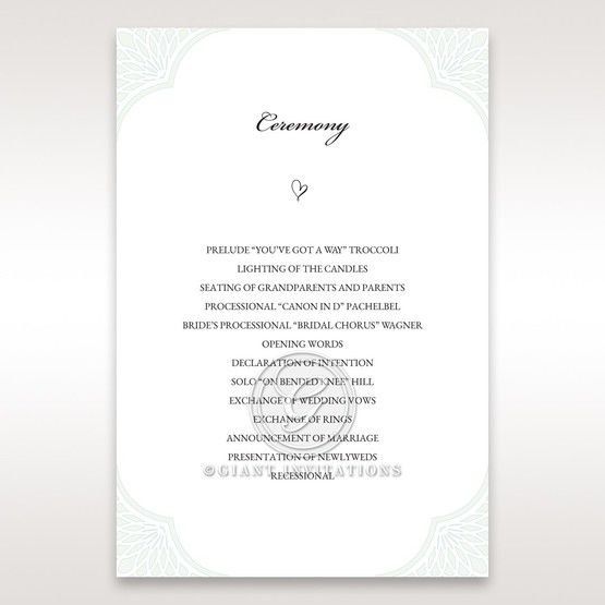 Framed Elegance order of service DG15104