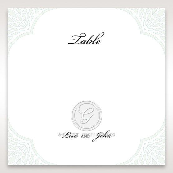Framed Elegance table number card DT15104