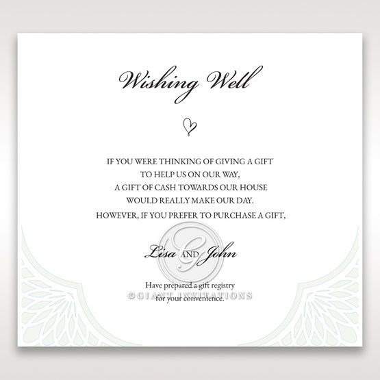 Framed Elegance wishing well card DW15104