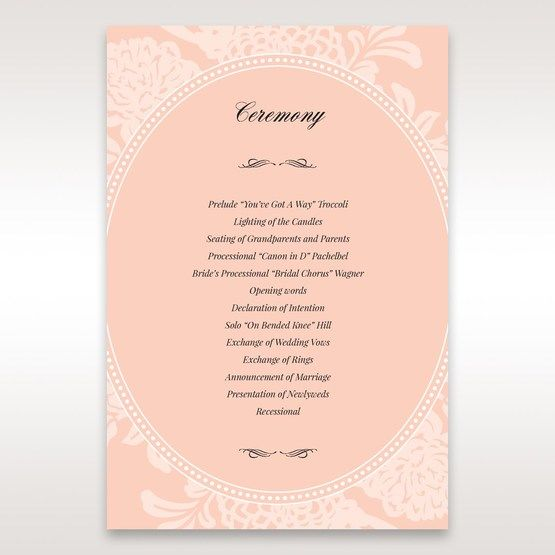 Pink Rustic Garden Laser Cut Pocket - Order of Service - Wedding Stationery - 43