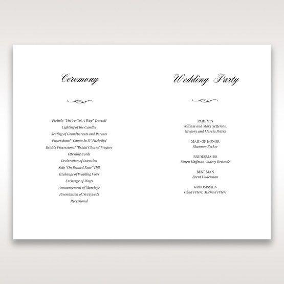 Purple Laser Cut Frame Pocket - Order of Service - Wedding Stationery - 3