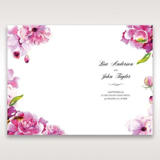 Purple Laser Cut Frame Pocket - Order of Service - Wedding Stationery - 4