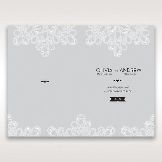 Silver/Gray Elagant Laser Cut Wrap - Order of Service - Wedding Stationery - 18