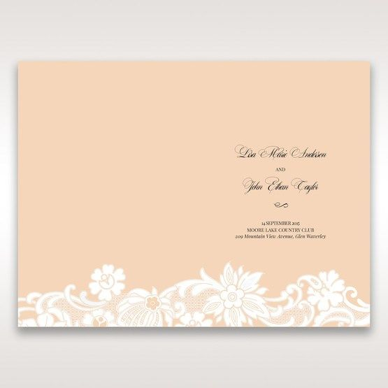 Beige White Laser Cut Wrap with Ribbon - Order of Service - Wedding Stationery - 28