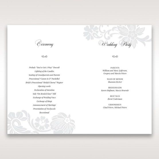 White Black Laser Cut Wrap with Ribbon - Order of Service - Wedding Stationery - 35