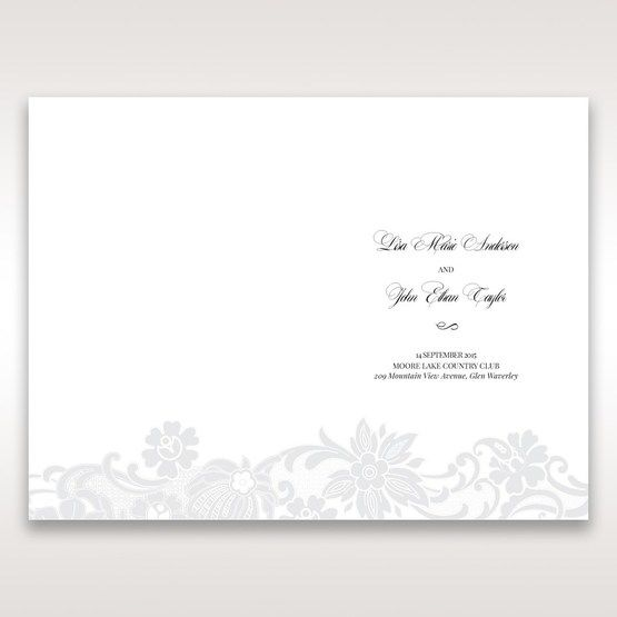 White Black Laser Cut Wrap with Ribbon - Order of Service - Wedding Stationery - 36