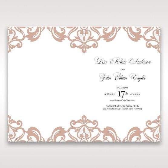 White Elegant Laser Cut Half Pocket with a Bow - Order of Service - Wedding Stationery - 64