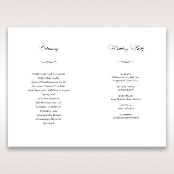 Purple Laser Cut Forest 3D Pocket - Order of Service - Wedding Stationery - 69