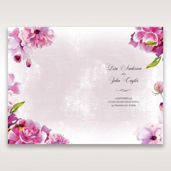 Purple Laser Cut Forest 3D Pocket - Order of Service - Wedding Stationery - 70