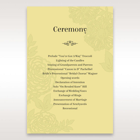 Green Magical Garden - Order of Service - Wedding Stationery - 32