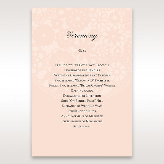 Orange Pink Light Romance - Order of Service - Wedding Stationery - 92