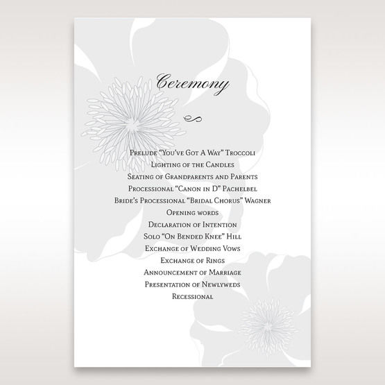 White True Love - Order of Service - Wedding Stationery - 95