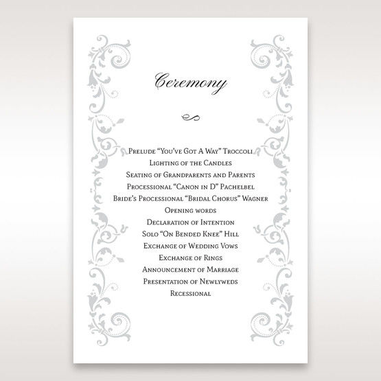 White Modern Times Vintage Pocket - Order of Service - Wedding Stationery - 97