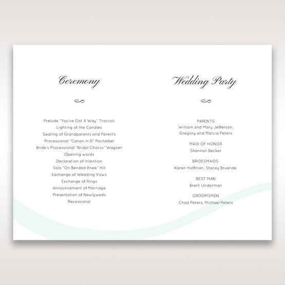 White Modern Marvel - Order of Service - Wedding Stationery - 36